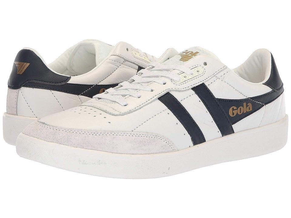 Gola Inca Leather (White/Navy/White) Men