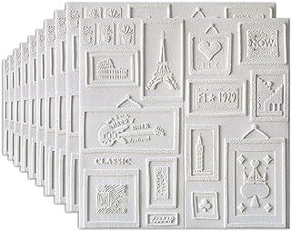 ملصق جداري ثلاثي الأبعاد من CAETNY ، لوح جداري من الفوم PE ، ورق حائط لتزيين خلفية التلفزيون ، ديكور غرفة نوم المنزل (70 ×...