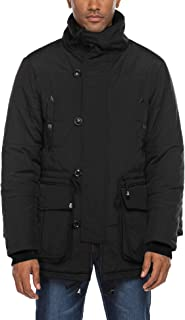 Men's Parka Jacket Pockets Thicken Lined Winter Warm Coat Long Anorak Puffer Windproof Outerwear