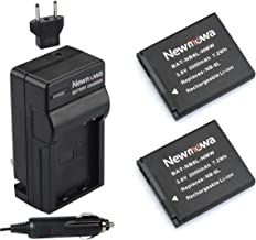 Newmowa NB-8L Replacement Battery (2-Pack) and Charger kit for Canon NB-8L,CB-2LA and Canon PowerShot A2200, A3000 is, A3100 is, A3200 is, A3300 is