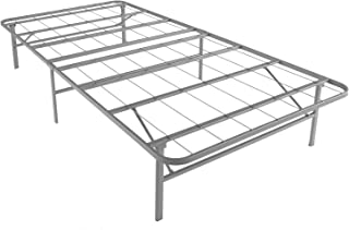 Mantua Premium Platform Bed Base in Silver, Fits Twin XL Mattress, Replaces Box Spring and Bed Frame, Room for Storage Underneath, No Tools Required