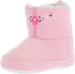 Luvable Friends Unisex-Child Embroidered Suede Baby Boot Crib Shoe