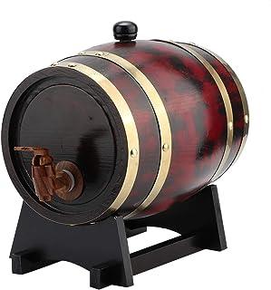 Tonneau en bois de barils de chêne de ménage EVTSCAN, équipement de brassage à la maison de seau de baril de vin en bois d...