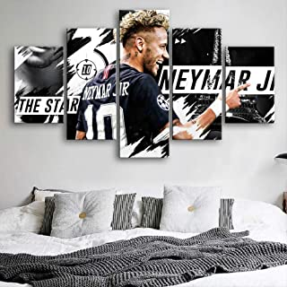 ARTZHUA Wall Art 5 Pieces Canvas Paintings American Football Creative HD Posters 5 Pieces Football Players Posters Wall Art Canvas Paintings Sports Prints Pictures Boys Room Decor
