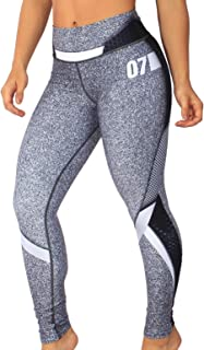 Women's Athletic Mid Waist Compression Leggings – for Workout, Yoga, Fitness, Dance   Colombian Active Wear by Exotik