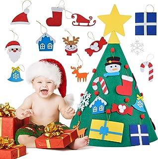 Outgeek Felt Christmas Tree Set DIY Christmas Tree for Christmas Decor DIY Felt Christmas Tree for Kids Xmas Decoration