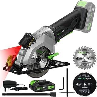 GALAX PRO Circular Saw, 20V 3400RPM Professional Cordless Circular Saw, Adjustable angle and depth,Max Cutting Depth 42.8m...