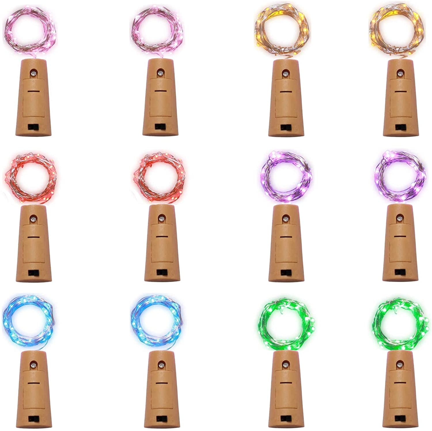 low-pricing 12 Pack 20 LED Wine Bottle Lights String Mini Fairy Max 51% OFF Cork