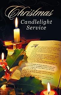 Seasonal Christmas Bulletin - Christmas Candlelight Service - Christmas - Church Bulletin 11 in. - (Package of 100)