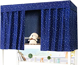 Bed Curtain Bed Canopy Single Sleeper Bunk Bed Bunk Tent Curtain Bedding Black Out Sleep Canopy Sleep Privacy Bed Rack Dorm College Student Dormitory Spread Blackout Mosquito Nets Bedding Curtain