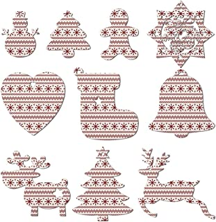Christmas Eve Crackers Claus Christmas Ornaments Christmas Tree Decorations Include Snowman Christmas Tree Reindeer and Angel– Set Of 10 Pieces