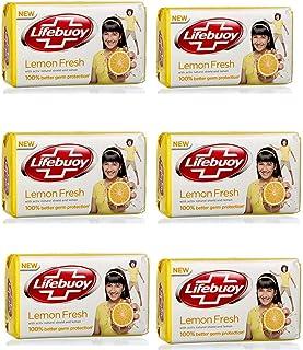 Lifebuoy Lemon Fresh Soap Bar 125gm, Pack of 6