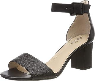 Clarks Women Deva Mae Leather Fashion Sandals
