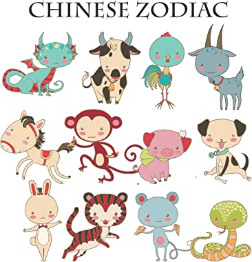RNK Shops Chinese Zodiac Toddler Duvet Cover w/Name or Text