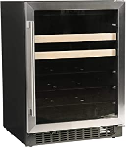 """Azure-A124BEV-S-24"""" Beverage Center with Stainless Trim Glass Door"""