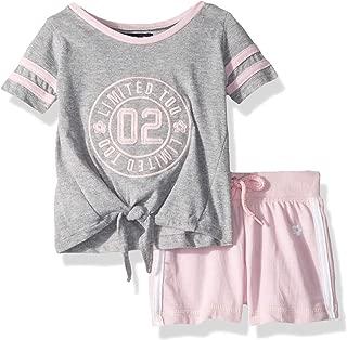 Limited Too Baby-Girls Short Sleeve Varsity T-Shirt and Pull-on Short Set Shorts Set