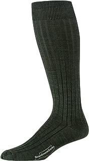 Boardroom Socks Men's Over the Calf Merino Wool Ribbed Dress Socks