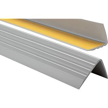 100cm bande de bordure Nez de marche profil d/'angle PVC autoadh/ésif 41x25mm antid/érapant Blanc descalier-protection