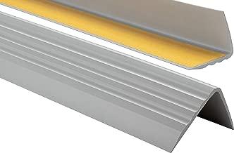 PVC Treppenkantenprofil Antirutsch-Profil Winkelprofil Selbstklebend Treppenkantenschutz 50x40mm 1,10m