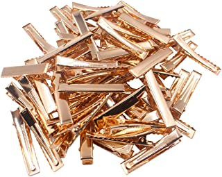 CELLOT 1-3/4 Inch (45 Mm)- Hair Clips Single Prong Metal Alligator Clips Hairbow Accessory -Gold,50 Pieces