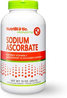 Nutribiotic - Sodium Ascorbate Buffered Vitamin C Powder, 16 oz | Vegan, Non Acidic & Easier on Digestion than Ascorbic Ac...