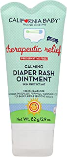 California Baby Calming Organic Diaper Ointment | All-Natural Baby Bottom Ointment for Sensitive Skin | Prevents Dryness, Eczema | Allergy Tested Formula | Soothing and Comfortable | 2.9oz