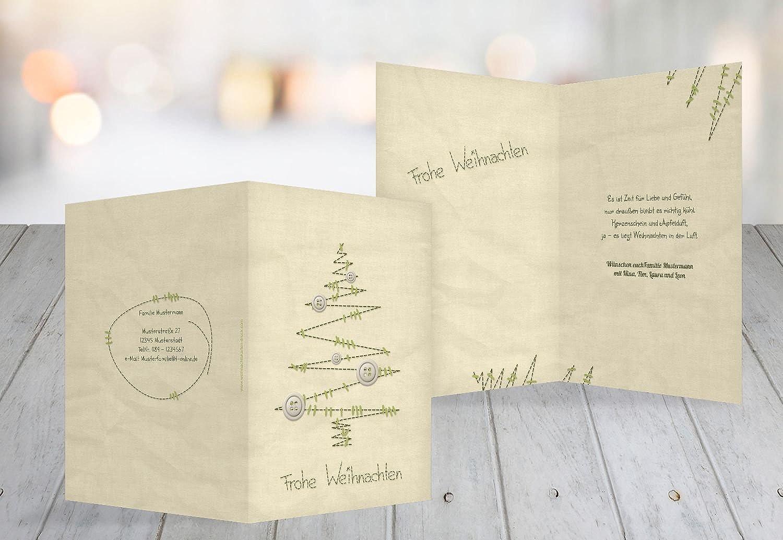 Kartenparadies Grußkarte Weihnachten Grußkarte Nahtbaum, hochwertige Weihnachtsgrüße als Weihnachtskarte (Format  105x148 mm) Farbe  MattGrün B01NASP1G8  | Einfach zu bedienen