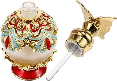 EXCEART Arabian Perfume Bottles Refillable Fancy Vintage Perfume Bottle Arab Dubai Encounters Flower Essence Bottle Egyptian