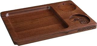Matriarch's Classic Black Walnut Wood Rolling Tray - Grinder Holder - Versatile Stash Jar/Filter Tip Base - 12