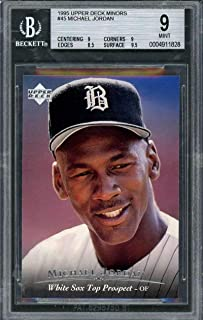 1995 upper deck minors #45 MICHAEL JORDAN baseball rookie BGS 9 (9 9 8.5 9.5) Graded Card