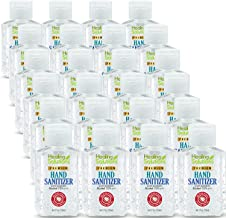 Hand Sanitizer Gel (24 Pack - Mini 2 oz Bottle) - 75% Alcohol - Kills 99.99% of Germs - Small 2oz Bulk Travel Size Individual Personal Pocket 2 Ounce Bottles