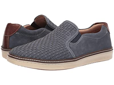 Johnston & Murphy McGuffey Woven Casual Slip-On Sneaker (Denim Tumbled Nubuck) Men