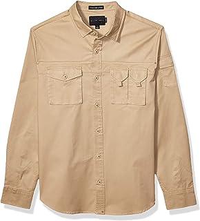 Sean John Men's Long Sleeve Utility Flight Shirt