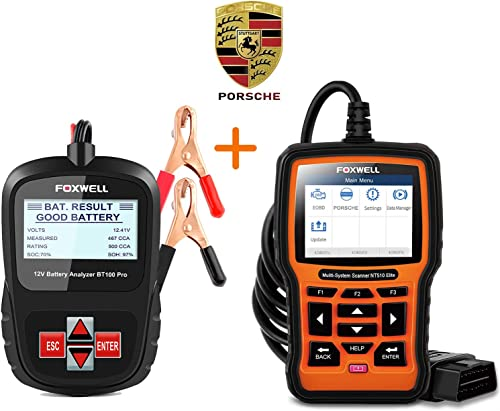 wholesale FOXWELL online sale BT100 Battery Tester + NT510 Elite Scan Tool for 2021 Prosche online