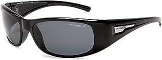 Arnette Hold Up AN4139 41/81 Polished Black/Grey Polarised Men's Wrap Sunglasses