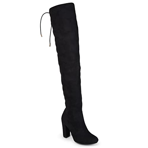 2d5a7756305 Journee Collection Womens Regular and Wide-Calf Faux Suede Over-The-Knee  Boots