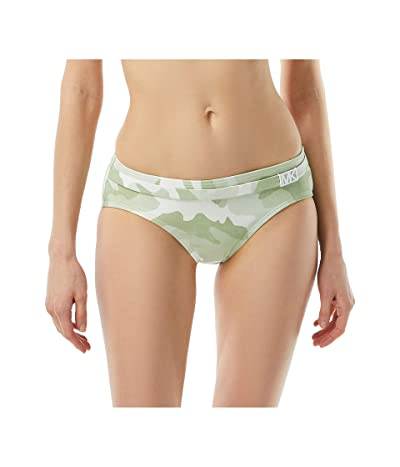 MICHAEL Michael Kors Camo Belted Bottoms w/ Logo Trim Detail (Army Green) Women