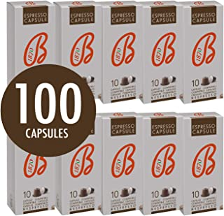 B1870 Cafe Barbera Premium Italian Ground Coffee Capsules Nespresso Compatible – Espresso – Rich Tasting with Excellent Body and Aroma