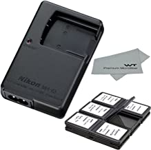 Nikon MH-63 Charger for Nikon EN-EL10 Li-ion Battery compatible with Coolpix Cameras S80 S200 S210 S220 S230 S500 S510 S520 S570 S60 S600 + Bonus Items!