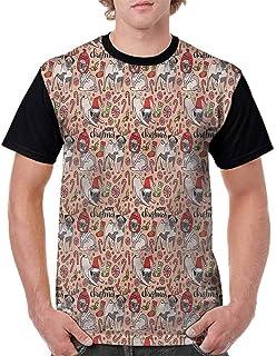 BlountDecor Loose T Shirt,Modern Cityscape Traffic Fashion Personality Customization