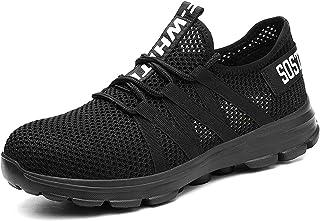 CHNHIRA Chaussures de sécurité en Acier pour Hommes Femmes Baskets de Travail Respirantes légères et Unisexes