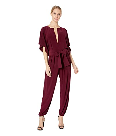 KAMALIKULTURE by Norma Kamali Rectangle Jog Jumpsuit (Plum) Women