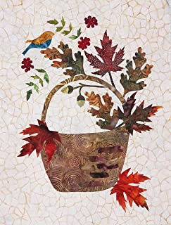 Seasonal Silhouettes Block 9 Laser Cut Fusible Applique Kit With Background, Sewing Kit