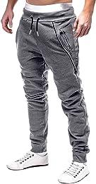 Homme Pantalon Jogging Bas de Survêtement Sweat Pa