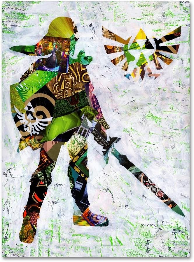 40% OFF Free Shipping New Cheap Sale Zelda 4 by Artpoptart Art Canvas 14x19-Inch Wall