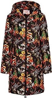 aihihe Womens Winter Long Down Coats Jackets Plus Size Warm Parka Print Full Zip Hooded Trench Coats Outwear