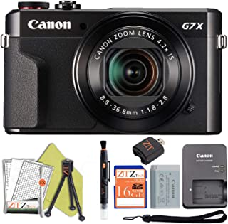 Canon PowerShot G7 X Mark II 20.1MP 4.2X Optical Zoom Digital Camera and Built-in WiFi/NFC Bundle (Starter Bundle)