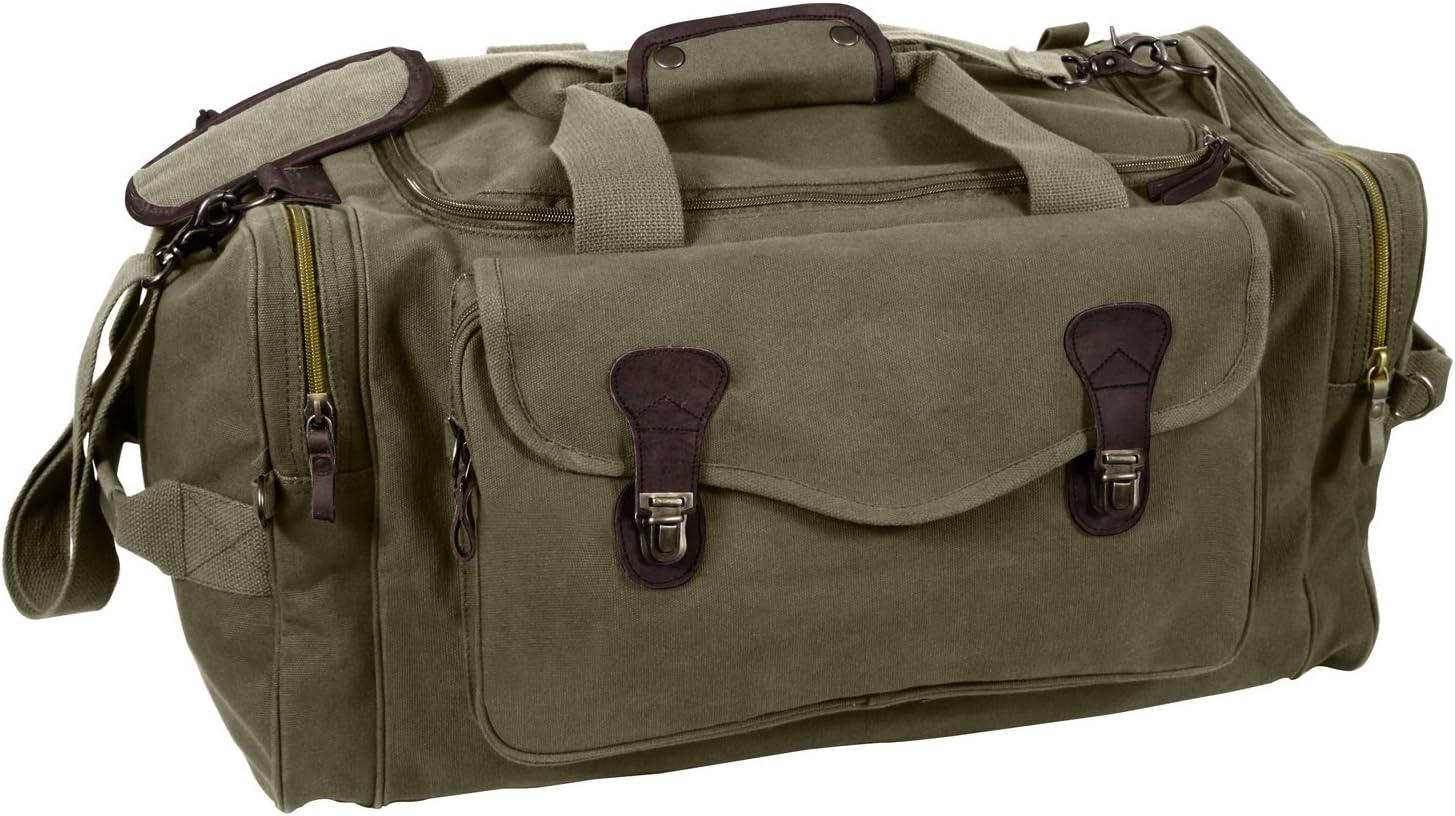 直営店 Rothco Canvas Long 価格 交渉 送料無料 Weekend Olive Drab Bag