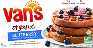 Van's Simply Delicious Whole Grain Organic Waffles, Blueberry, 6 Count (Frozen)