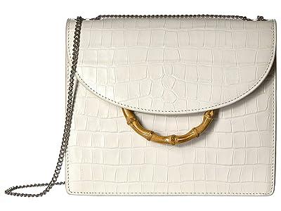 Loeffler Randall Marla Square Bag with Chain (Ecru) Handbags